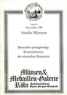 Verkaufsliste Nr. 6 1980 Hans Jürgen Knopek Antike Münzen Römische Bronzemünzen Numismatik Coin Roman Coins - Literatur & Software