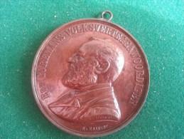 Huldebetoon Edw. Coremans, Wet Op Het Vlaamsch In Gerechtszaken, 10/2/1889 (Deckers, Mauquoy), 49 Gram (medailles0130) - Autres
