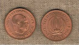SIERRA LEONE -  1  Cent 1964  KM17 - Sierra Leona
