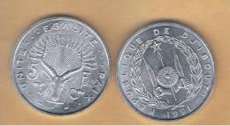 DJIBOUTI - 5 Francs 1991 SC  KM22 - Djibouti