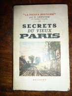 SECRET DU VIEUX PARIS - Livres, BD, Revues