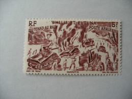 """Wallis Et Futuna  1946  N°  PA 7  Y&T  """"Du Tchad Au Rhin""""  1V  Neuf - Used Stamps"""