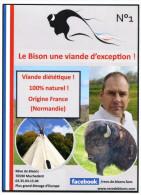 Rack Card Breeding Bisons In France - Normandy - Bison - Agriculture