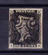 SG #1 - One Penny Black 1840 Platte 1b Sauber Zentrisch Gestempelt - 1840-1901 (Victoria)