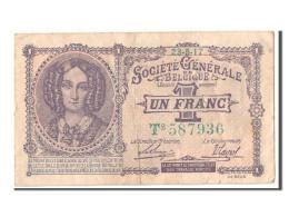 [#303578] Belgique, 1 Francs Type 1915 - [ 3] Ocupaciones Alemanas En Bélgica