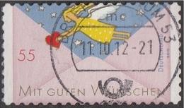 2010 -   Timbre  D' Allemagne -  YT 2615 -  55 C. Ange Avec Coeur Dans Une Enveloppe - [7] West-Duitsland