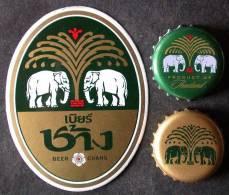 Capsules CHANG  BEER  Nouveau + Ancien Modèle  BIERE   THAILANDE   THAILAND  ELEPHANT  + AUTOCOLLANT   PORT  OFFERT - Bière