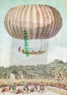 MENU AIR FRANCE -JARDIN TUILERIES PARIS- EXPERIENCE ASCENSION BALLON MONGOLFIERE- PAR ROBERT COLIN HULLIN 1784 - Menus