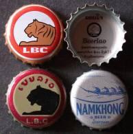 Capsules De BIERE  /  BEER  Lot De 3  LAOS / LAO   + AUTOCOLLANT   &  PORT  OFFERT - Bière