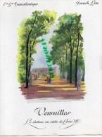 MENU PAQUEBOT FRANCE- FRENCH LINE- CGT- VERSAILLES CHATEAU PAR GALLAND -COMMANDANT CHRISTIAN PRETRE-4 AVRIL 1971 - Menus