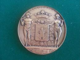 Stad Antwerpen Aan Van Der Sloten-Backhovens, Gouden Bruiloft, 23/9/1980 (Josua Dupon), 113 Gram (medailles0142) - Belgium