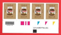 Italia Codice A Barre 1592 - NUTELLA  4 Valori X €. 0.70  Alfanumerico LA168376121 Con Prova Colore  - Nuovi ** Integri - Codici A Barre