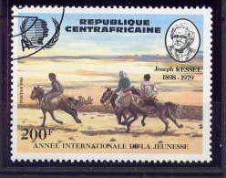 "CENTRAFRICAINE - N° 667° - JOSEPH KESSEL ""LES CAVALIERS"" - República Centroafricana"