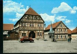 Stadtlauringen Unterfranken PKW VW Brezel Fachwerkhaus Rathaus 60er - Toerisme