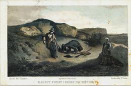 Chien- Journal Des Chasseurs ,  Octobre 1852 - GRAVURE -  MAUDIT  FURET !!  CHIEN  DE METIER  - Chasse ? Rare - Engravings