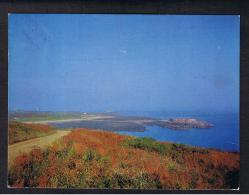 RB 986 - 1970's Postcard - Essex Hill & Ile De Raz - Alderney Channel Islands - Guernsey Stamp - Alderney