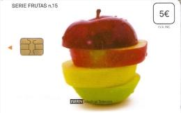 ISN-141 TARJETA DE ESPAÑA DE ISERN DE LA SERIE FRUTAS Nº15  MANZANA-APPLE - Alimentación