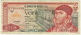 MESSICO - MEXICO - 20 PESOS ANNO 1972 - QUALITA´m B - Mexico