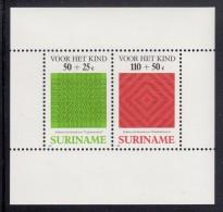 Surinam MNH Scott #B362a Souvenir Sheet Of 2 Herring Bone, Whirlpool - Caribbean Manari - Surinam