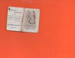 """Calendrier Petit Format - Année 1912 -Publicité - Patisserie Confiserie à BAVAY """"Favier -Fortin """" - Calendriers"""