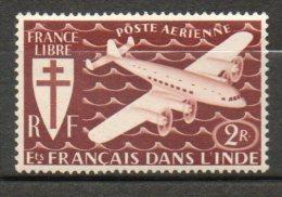 INDE P Aérienne 2r Brun Rouge 1942 N°3 - India (1892-1954)