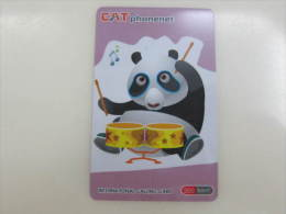 CAT Prepaid Phonecard,panda Play Music,used - Thaïlande