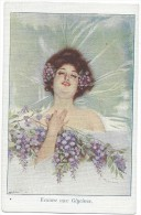 Illustration  Illustrateur Femme Aux Glycines  Portrait  /16029 - Illustratori & Fotografie