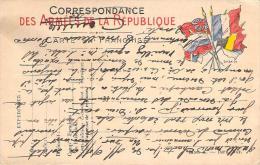 WW1 - Franchise Militaire, Correspondance Des Armées De La République, Drapeaux - Guerra 1914-18
