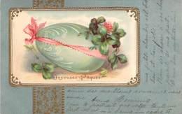 Joyeuses Pâques - Oeuf, Gaufrée, Colorisée - Pâques