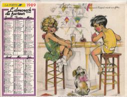 """"""" L'ALMANACH Du FACTEUR """" - La Poste 1989 - Département Du NORD - Déssins GERMAINE BOURET. - Calendriers"""