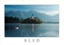 Bled Lake And Island, Slovenia Slovenija Postcard Used Posted To UK 2007 Gb Stamp #1 - Slovenia