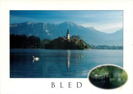Bled Lake And Island, Slovenia Slovenija Postcard Used Posted To UK 2006 Stamp #2 - Slovenia
