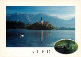 Bled Lake And Island, Slovenia Slovenija Postcard Used Posted To UK 2003 Nice Stamp #4 - Slovenia