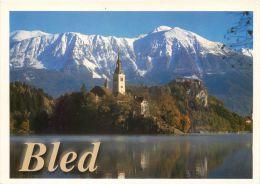 Bled Lake And Island, Slovenia Slovenija Postcard Used Posted To UK 2002 Nice Stamp - Slovenia