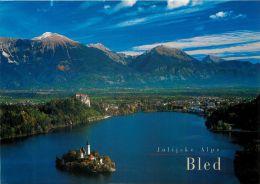 Bled Lake And Island, Slovenia Slovenija Postcard Used Posted To UK 2004 Nice Stamp - Slovenia