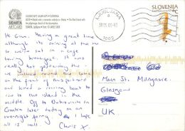 Bled Lake And Island, Slovenia Slovenija Postcard Used Posted To UK 2006 Nice Stamp #1 - Slovenia