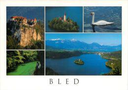 Bled Lake And Island, Slovenia Slovenija Postcard Used Posted To UK 2006 Gb Stamp - Slovenia