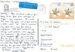 Kranjska Gora, Slovenia Slovenija Postcard Used Posted To UK 2008 Stamp - Slovenia