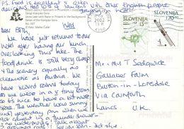 Jasna Kranjska Gora, Slovenia Slovenija Postcard Used Posted To UK 2002 Nice Stamp #1 - Slovenia