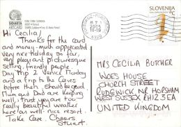 Portoroz, Slovenia Slovenija Postcard Used Posted To UK 2005 Nice Stamp - Slovenia