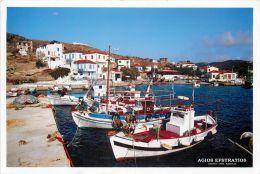 Agios Efstratios Island, Greece Postcard Used Posted To UK 2006 Nice Stamp - Grecia