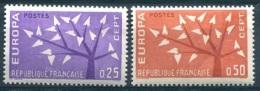 France EUROPA 1962 Y&T** N° 1358-1359  (A 10% De La Cote) - 1962