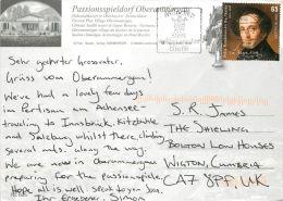 Oberammergau, Germany Postcard Used Posted To UK 2010 Nice Stamp - Oberammergau