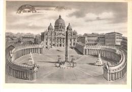 Rome-Vatican-1948-Basilique De Saint-Pierre-Timbre-Paire YT 136 -Ignace De Loyola-Poste Vaticane-Exp. Vers Duinbergen - Vatikanstadt