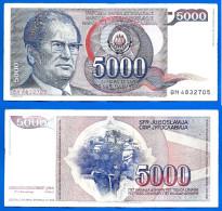 Yougoslavie 5000 Dinara 1985 Prefixe BH Que Prix + Frais De Port Tito Dinars Yugoslavia Skrill Paypal - Yugoslavia