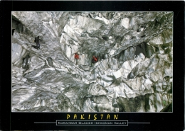 Korambar Glacier, Ishkoman Valley, Pakistan Postcard Used Posted To UK 2004 Gb Stamp - Pakistan