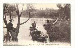 Cp, 69, Lyon, Le Parc De La Tête D'Or, Un Coin Du Lac - Lyon
