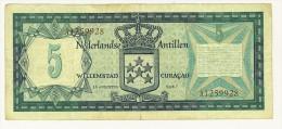 ANTILLE OLANDESI - VIJF GULDEN - 5 GULDEN - ANNO 1967 - QUALITA' BB - Nederlandse Antillen (...-1986)