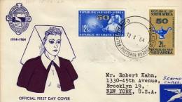 1714 FDC  Aereo  Pretoria 1964 Sur áfrica Circulada A New York Estados Unidos - FDC