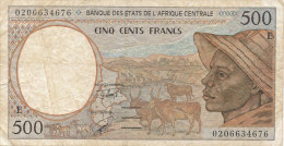 BILLETS DE 500 FRANCS   BANQUE DES ETATS DE L'AFRIQUE CENTRALE - Central African States